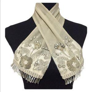 Dries Van Noten • Silk Bead Embellished Bib Scarf